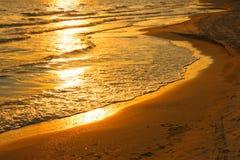 racy położenia słońca woda Fotografia Royalty Free