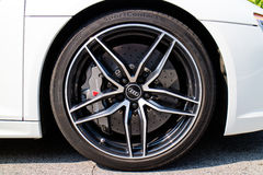 Rad Audis R8 2016 Lizenzfreies Stockbild