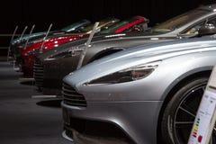 Rad av Aston svalor Fotografering för Bildbyråer