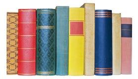 Rad av böcker Royaltyfria Bilder