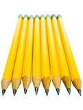 Rad av blyertspennor Arkivbild