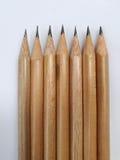 Rad av blyertspennor Royaltyfria Foton