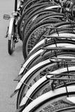 Rad av cyklar i London Royaltyfri Fotografi