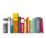 Rad av färgrika böcker Royaltyfri Foto