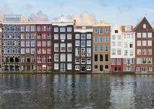 Rad av historiska byggnader, Amsterdam Royaltyfri Bild