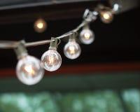 Rad av lampor Royaltyfria Bilder