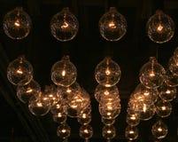 Rad av ljus Fotografering för Bildbyråer