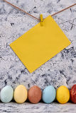 Rad av målade fega ägg Royaltyfria Foton