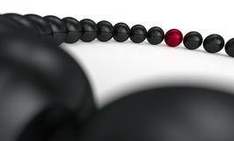 Rad av pärlor Royaltyfri Bild