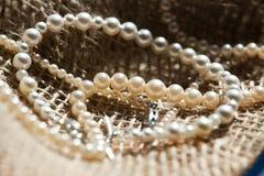 Rad av pärlor Royaltyfria Bilder