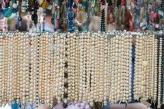 Rad av pärlor arkivfoton
