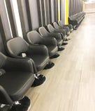 Rad av stolar för att vänta royaltyfria bilder
