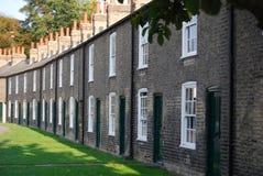 Rad av terrasserade hus, Cambridge, England Arkivfoto
