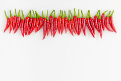 Rad av thailändska peppar Fotografering för Bildbyråer