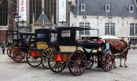 Rad av vagnar royaltyfri foto