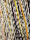 Rad av vinylregister Royaltyfri Fotografi