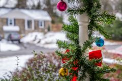 Outdoor Christmas decorations Royalty Free Stock Photos