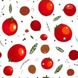 Rad Canned Spicy Tomato Seamless Pattern Royalty Free Stock Photo