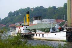 Rad-Dampfer auf der Elbe Lizenzfreies Stockbild