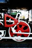 Rad der Dampflokomotive Stockbild