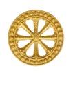 Rad des Gesetzes, Dharma, Beschneidungspfad eingeschlossen. Stockbild