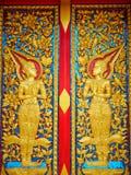 Rad des Lebens oder des Dharmachakra oder Rad von Dhamma bei Wat Chaiyamangalaram Penang Malaysia Stockfoto