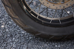Rad des Motorrads Lizenzfreies Stockfoto