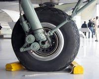 Rad eines Flugzeuges Lizenzfreies Stockbild