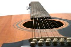 rad för 12 gitarr Arkivfoton