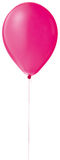 rad för ballonheliumred Arkivbilder
