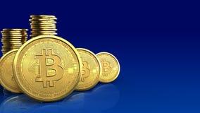 rad för bitcoins 3d Arkivfoton