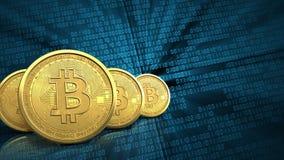 rad för bitcoins 3d Arkivbilder