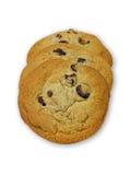 rad för chipchokladkakor Royaltyfri Bild