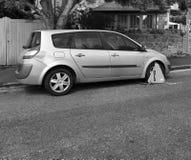 Rad festgeklemmtes Auto stockbild