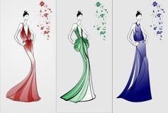 Rad Green Blue fashion theme Royalty Free Stock Images