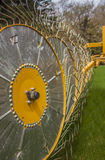 Rad Hay Rake Farm Equipment Lizenzfreie Stockfotos