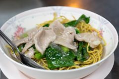 Rad Na Thai Noodles with thick gravy Royalty Free Stock Photography