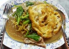 Rad-Na Thaise noedels, Thais voedsel, Thailand Stock Afbeeldingen