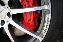 Rad offenen Tourenwagens Mercedes-Benzs SLS Lizenzfreies Stockbild