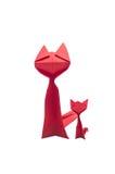 Rad paper cat Stock Photography