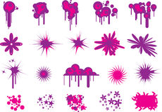 Rad Splats and blobs Stock Images