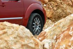 Rad und Felsen Stockfotografie