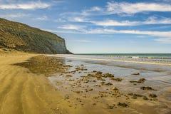 Rada蒂利海滩Chubut阿根廷 免版税图库摄影