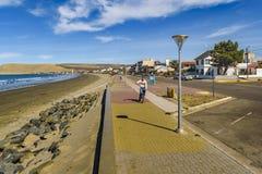 Rada蒂利海滩Chubut阿根廷 免版税库存照片