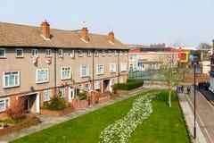 Rada budynek mieszkalny blok w UK obraz royalty free