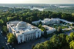 Rada de Verkhovna de Kiev Edificio de la administración Fotos de archivo libres de regalías