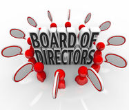 Rada Dyrektorów Mowy Gulgoczący Dyskusja Firma prowadzenia ludzie Zdjęcia Royalty Free