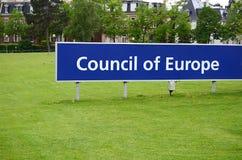 Rada Europy w Strasburg Zdjęcie Stock