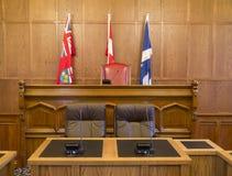 Rada Miasta Gmach sądu Sala i zdjęcia stock
