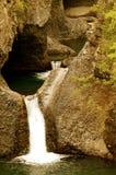 Radal Siete Tazas国家公园在智利 库存图片
